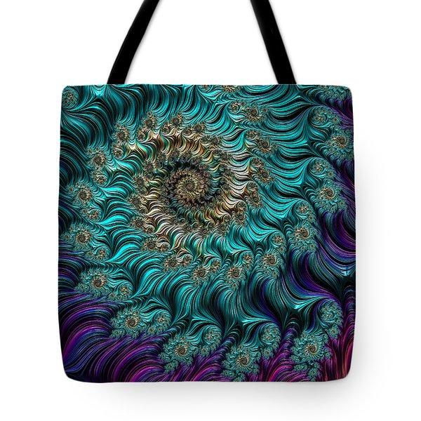 Aqua Swirl Tote Bag