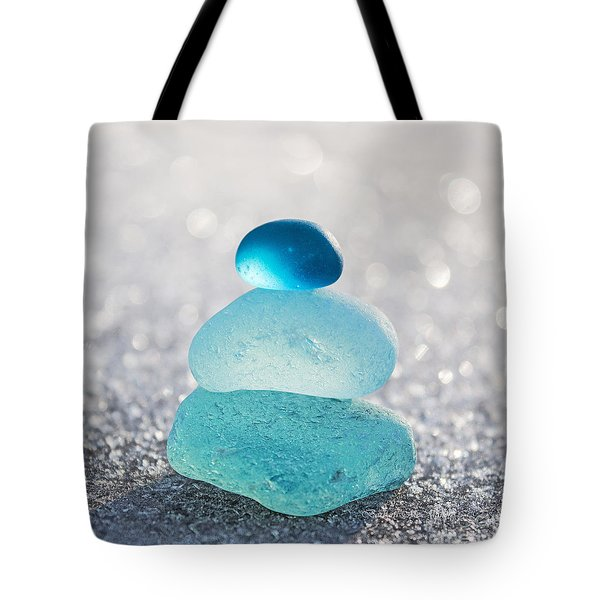 Aquamarine Ice Light Tote Bag