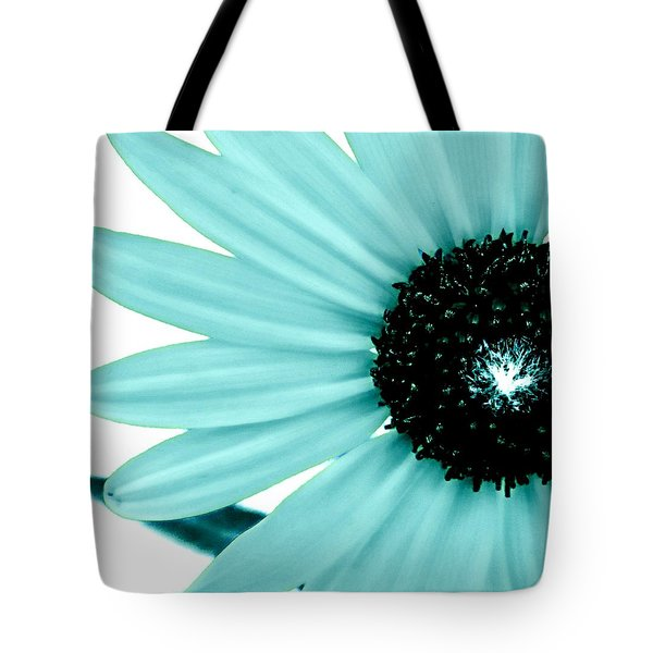 Aquamarine Sunflower Burst Tote Bag