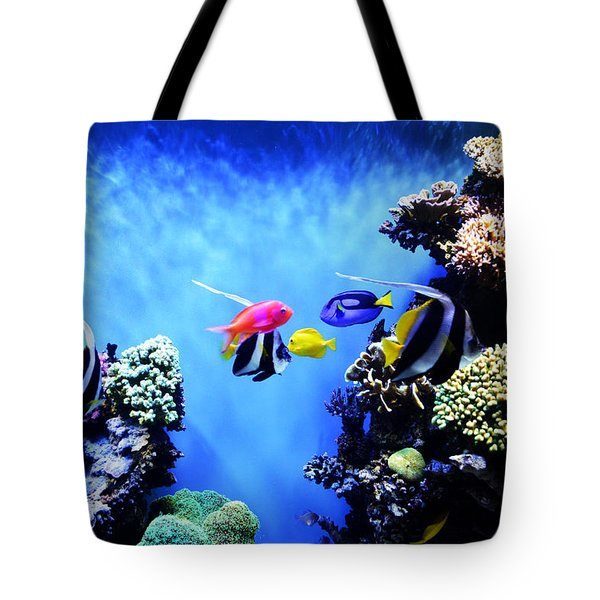 Aquarium 1 Tote Bag by Barbara Snyder