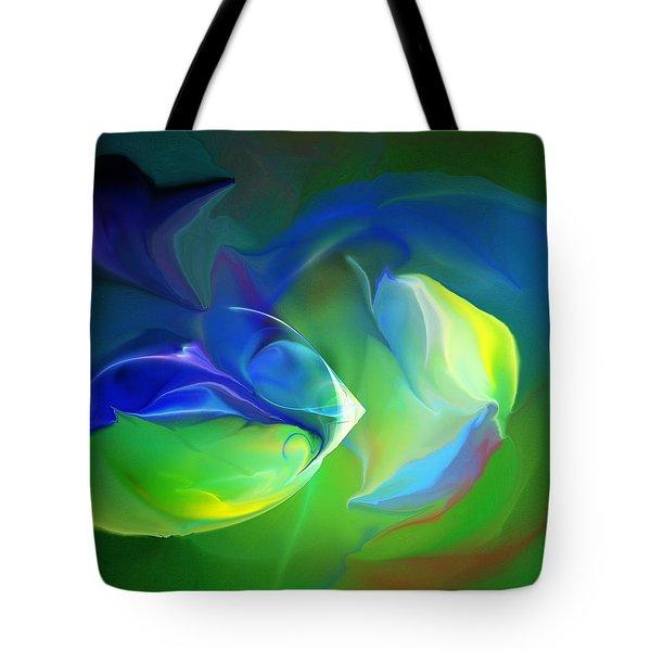 Tote Bag featuring the digital art Aquatic Illusions by David Lane