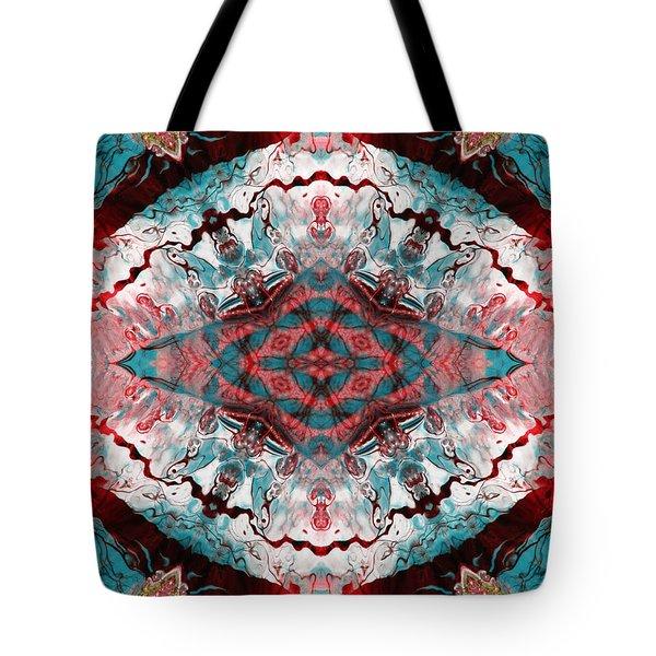Aquatic Lace 5 Tote Bag by Shawna Rowe