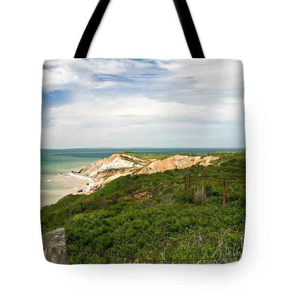 Aquinnah Gay Head Lighthouse Marthas Vineyard Massachusetts II Tote Bag