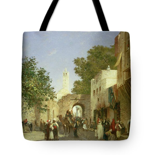Arab Street Scene Tote Bag by Honore Boze