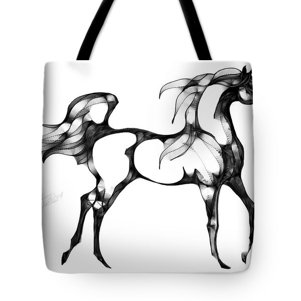 Arabian Horse Overlook Tote Bag by Stacey Mayer