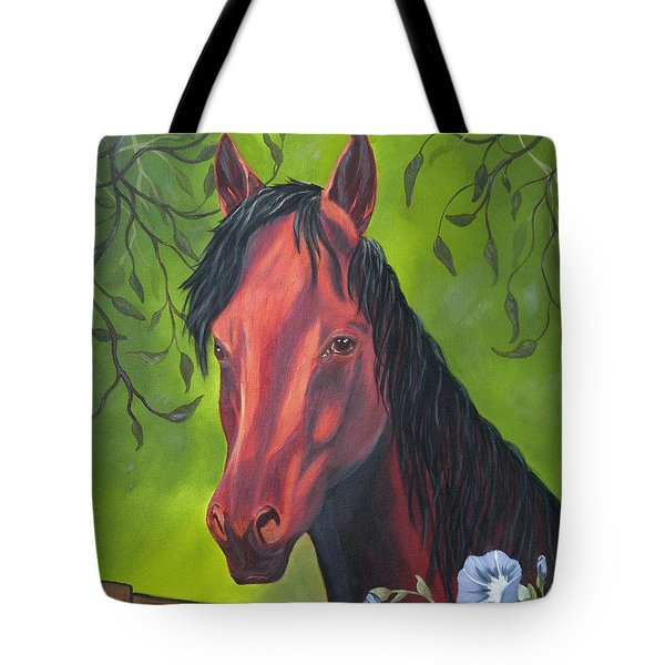 Arabian Horse Tote Bag by Terri Mills