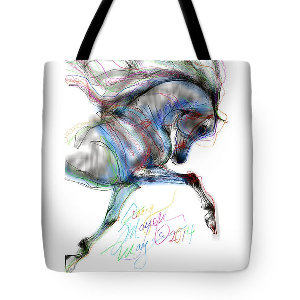 Arabian Horse Trotting In Air Tote Bag