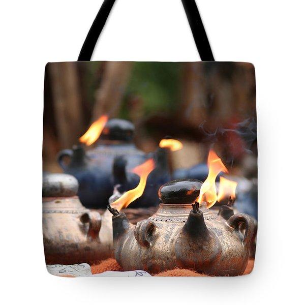 Arabic Oil Lamp Tote Bag
