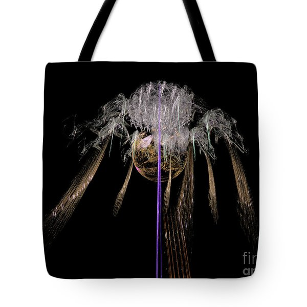 Tote Bag featuring the digital art Arachnophobia #2 by Russell Kightley