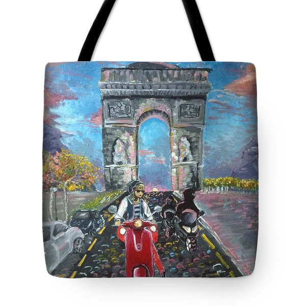 Arc De Triomphe Tote Bag by Alana Meyers