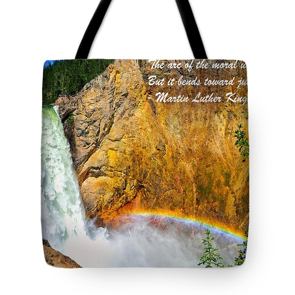 Arc Of The Moral Universe Tote Bag