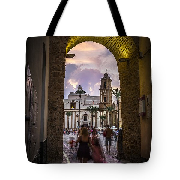 Arc Of The Rose Cadiz Spain Tote Bag