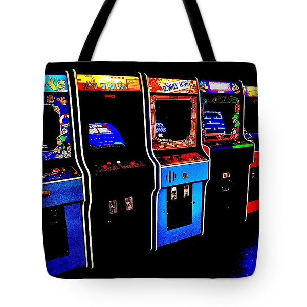 Arcade Forever Nintendo Tote Bag by Benjamin Yeager
