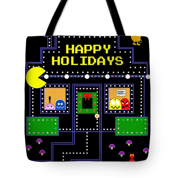Arcade Holiday Tote Bag by Shawna Rowe