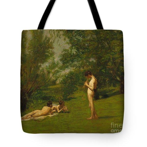 Arcadia Circa 1883 Tote Bag by Thomas Cowperthwait Eakins