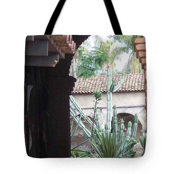 Arch And Cacti Tote Bag