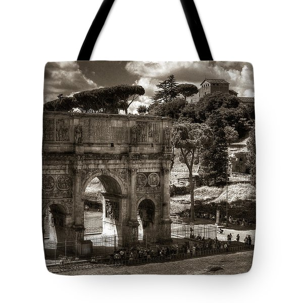 Arch Of Contantine Tote Bag