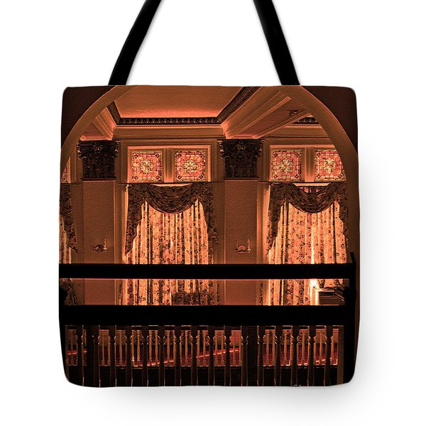 Arch Of Light In Near Night Tote Bag