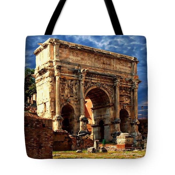 Arch Of Septimius Severus Tote Bag by Anthony Dezenzio