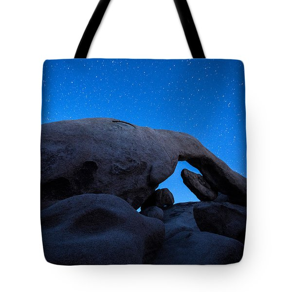 Arch Rock Starry Night 2 Tote Bag by Stephen Stookey