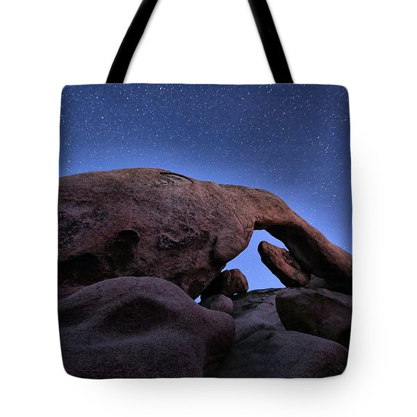 Arch Rock Under The Stars Tote Bag