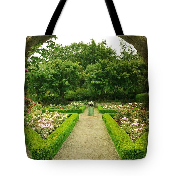 Arch To The Rose Garden Tote Bag by Maria Janicki