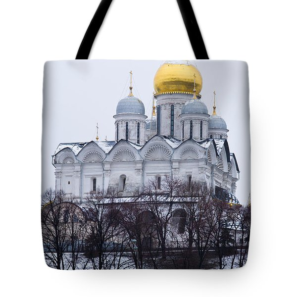 Archangel Cathedral Of Moscow Kremlin - Featured 3 Tote Bag by Alexander Senin