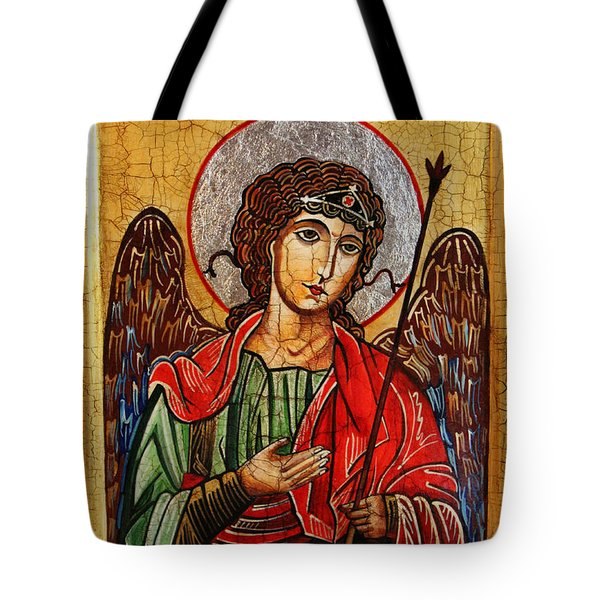 Archangel Michael Icon Tote Bag by Ryszard Sleczka