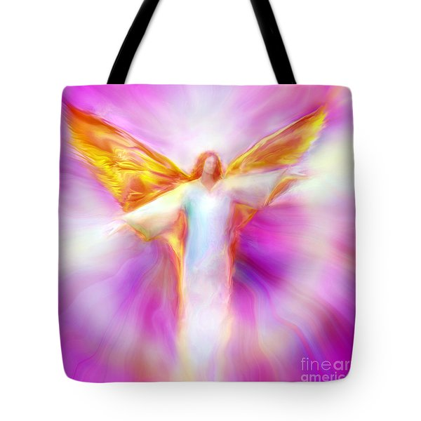 Archangel Sandalphon In Flight Tote Bag