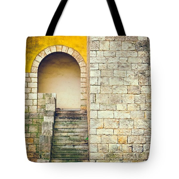 Tote Bag featuring the photograph Arched Entrance by Silvia Ganora