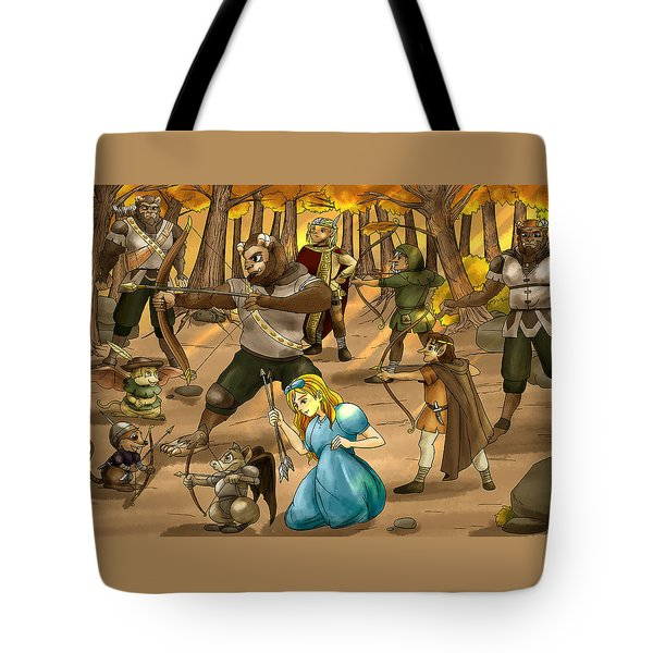 Tote Bag featuring the painting Archery In Oxboar by Reynold Jay