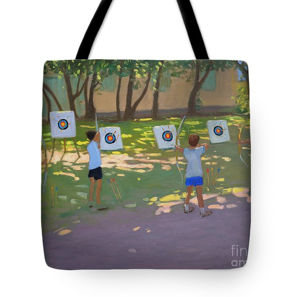 Archery Practice  France Tote Bag by Andrew Macara