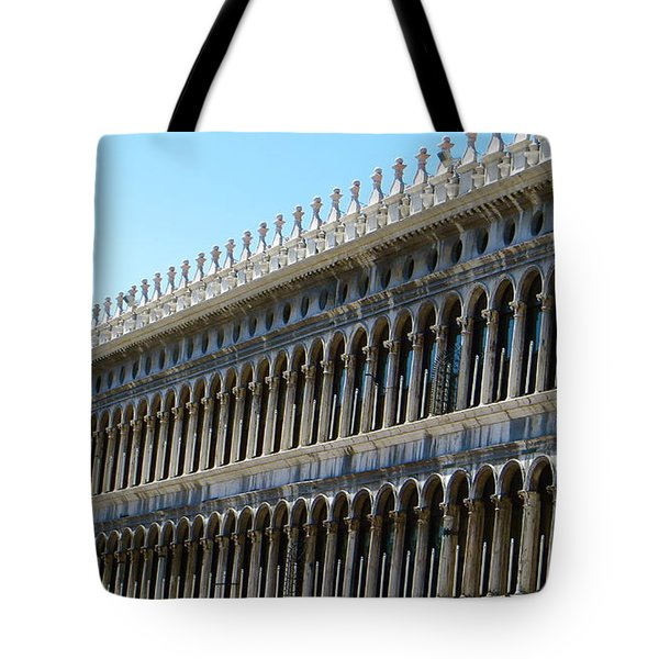 Arches And Columns Tote Bag by Rita Mueller