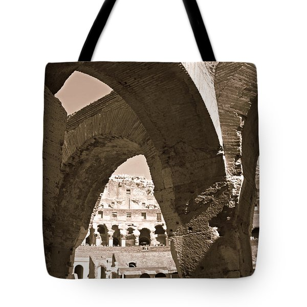 Arches In The Colosseum Tote Bag