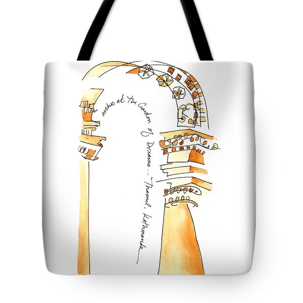 Arches In The Garden Of Dreams Tote Bag