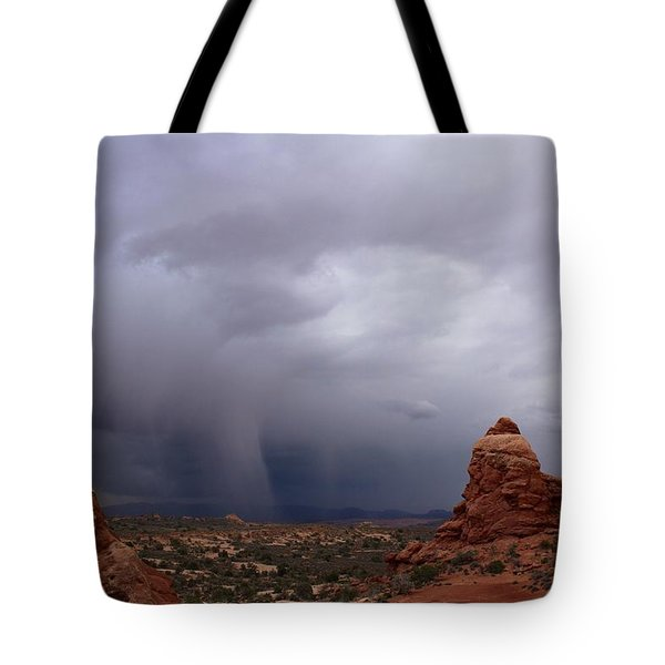 Arches National Monument Moab Tote Bag by Suzanne Lorenz