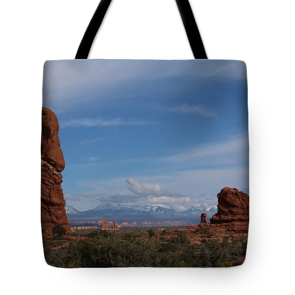 Arches National Monument Tote Bag by Suzanne Lorenz
