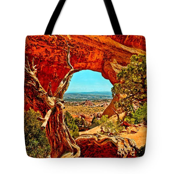 Arches National Park Tote Bag by Bob and Nadine Johnston