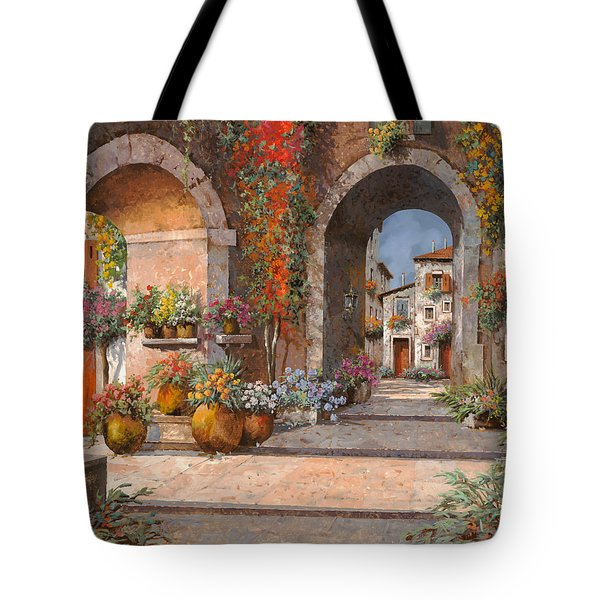 Archi E Sotoportego Tote Bag by Guido Borelli