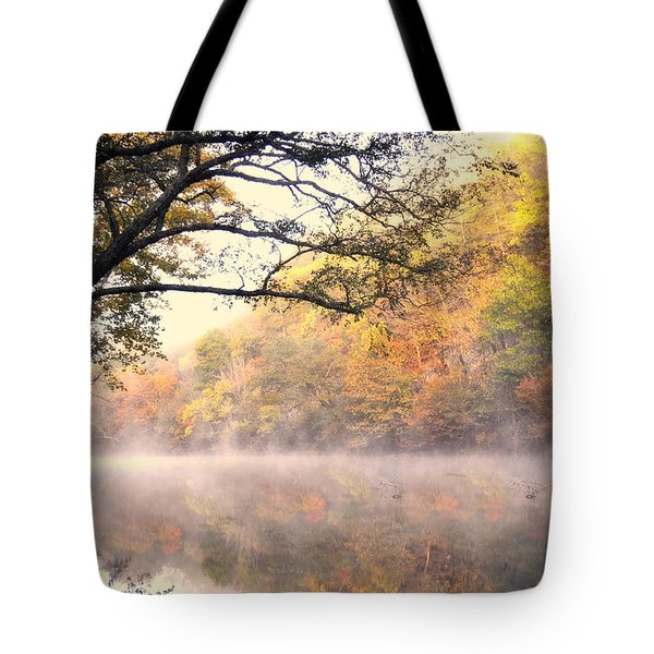 Tote Bag featuring the photograph Arching Tree On The Current River by Marty Koch