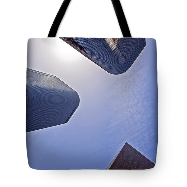 Architectural Bunker Hill Financial District Tote Bag by David Zanzinger