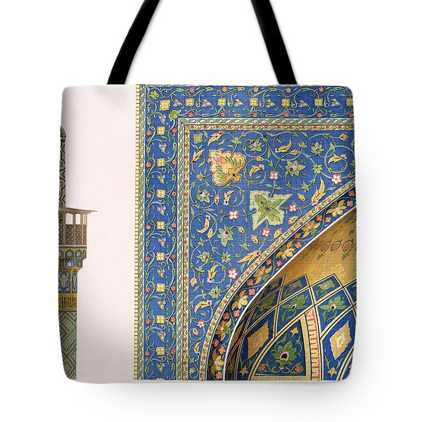 Architectural Details From The Mesdjid I Shah Tote Bag by Pascal Xavier Coste