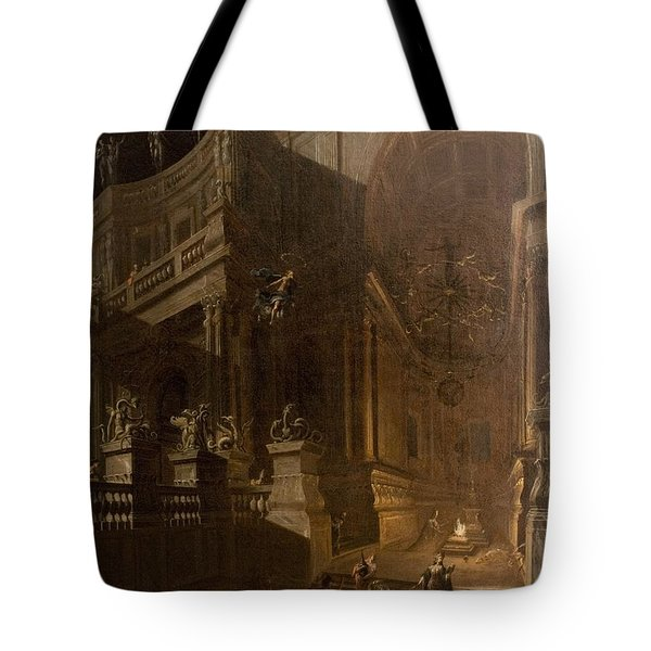 Architectural Fantasy With Figures Tote Bag by Stefano Orlandi