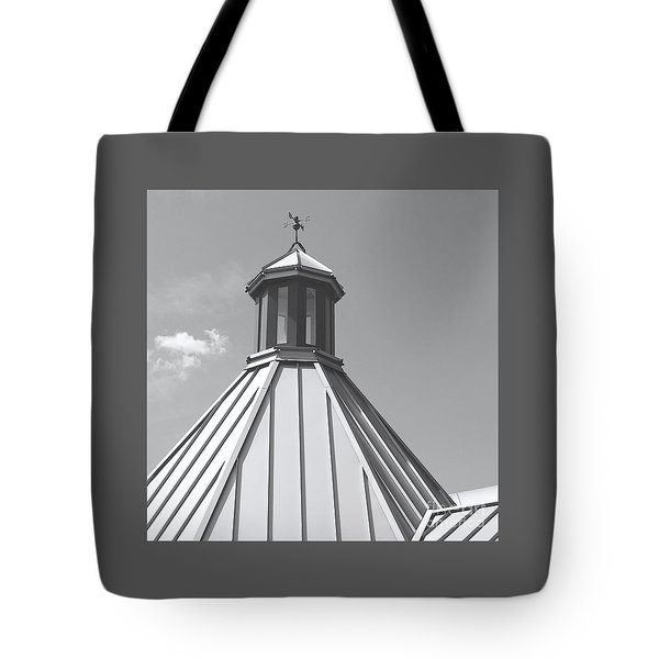 Architectural Gray Tote Bag by Ann Horn