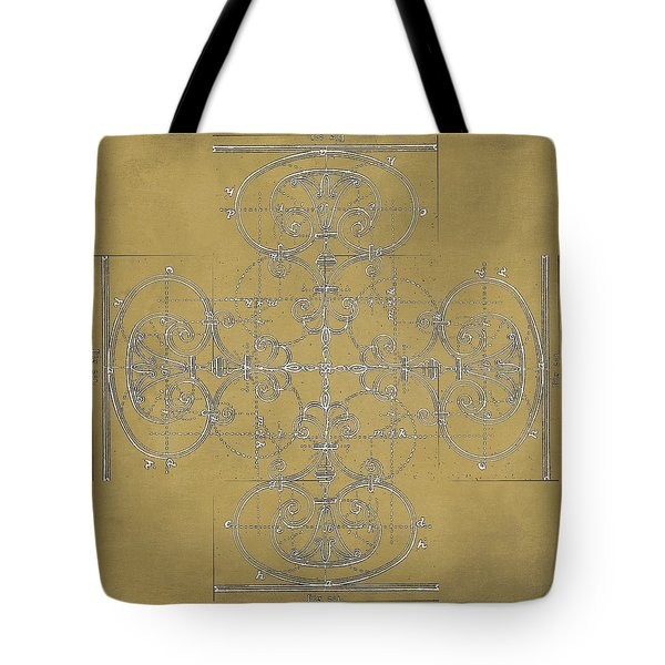 Tote Bag featuring the photograph Sepia Maltese Cross Blueprint by Suzanne Powers