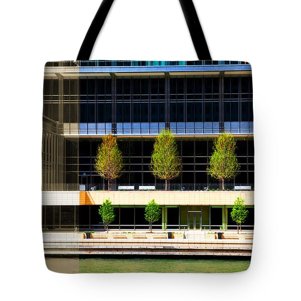 Architectural Pattern Trees Tote Bag