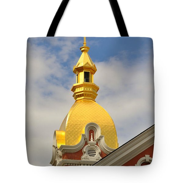 Architecture - Golden Cross Tote Bag by Liane Wright