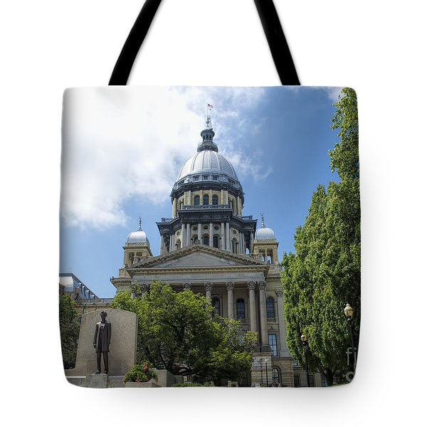 Architecture - Illinois State Capitol  - Luther Fine Art Tote Bag