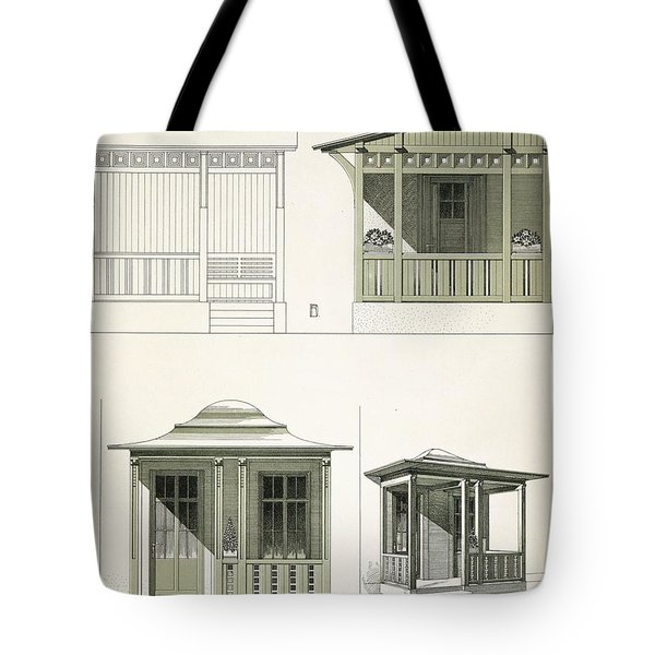 Architecture In Wood, C.1900 Tote Bag by Richard Dorschfeldt