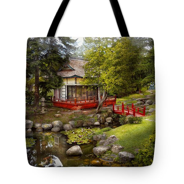 Architecture - Japan - Tranquil Moments  Tote Bag by Mike Savad